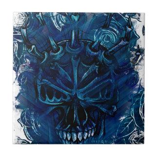 Creepy Horror Skull Tile