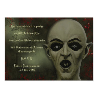Creepy Horror Vampire Halloween Party Invitation