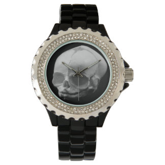 Creepy Infant Skull Gothic Ladies Wrist Watch