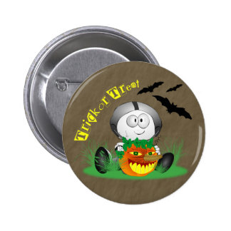 Creepy Jack-o-Lantern Button
