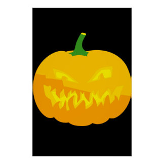 Creepy Jack-O-'Lantern Poster