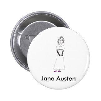 Creepy Jane Austen Pinback Buttons
