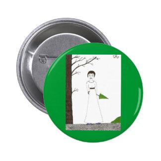 Creepy Jane Austen Rice Painting 6 Cm Round Badge
