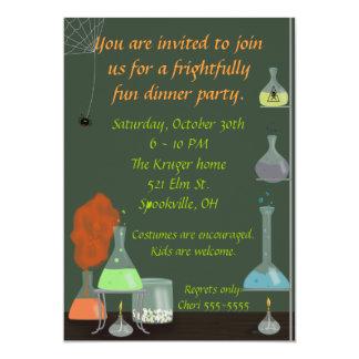 Creepy Lab Halloween Invite 5x7