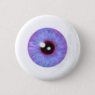 Creepy Lavendar Azure Eyeball Button