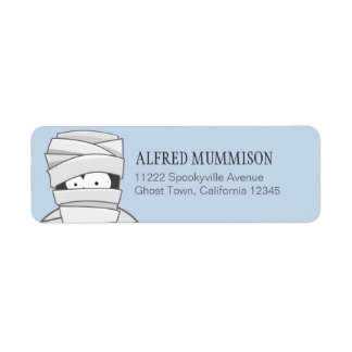 Creepy Mummy Halloween Return Address Labels