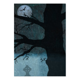 Creepy night bookmark large business cards (Pack of 100)