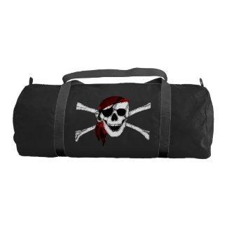 Creepy Pirate Skull and Crossbones Gym Duffel Bag