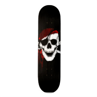 Creepy Pirate Skull and Crossbones Skate Board Deck