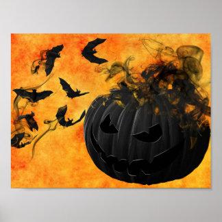 Creepy Pumpkin Halloween Poster