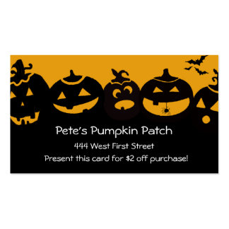 Creepy Pumpkin Patch... Pack Of Standard Business Cards
