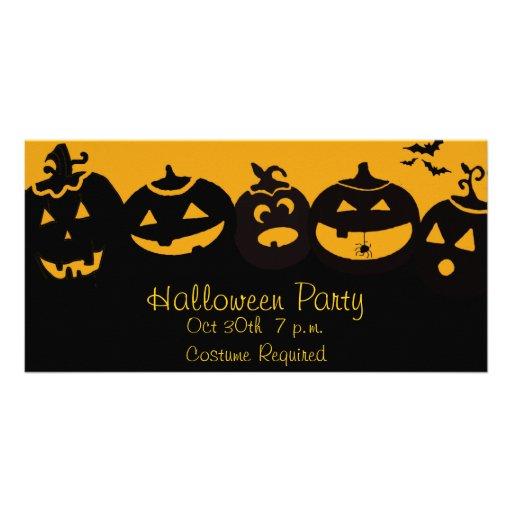 Creepy Pumpkins Photo Cards