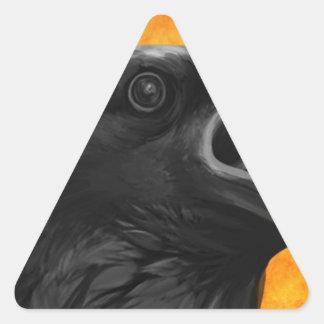 Creepy Raven Triangle Sticker