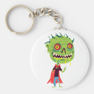 Creepy Red and Yellow Eyed Drooling Green Monster Key Chains