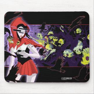 Creepy Red Riding Hood Girl Dark Hunted Mouse pad