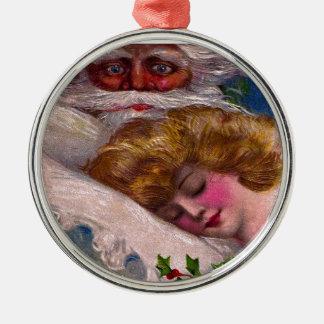 Creepy Santa Claus Pretty Woman Christmas Christmas Ornament