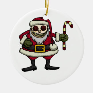 Creepy Santa Ornament
