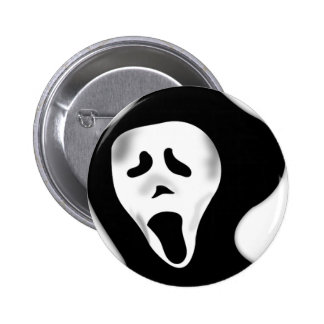 Creepy Scary Screaming Ghostly Ghoul Face 6 Cm Round Badge