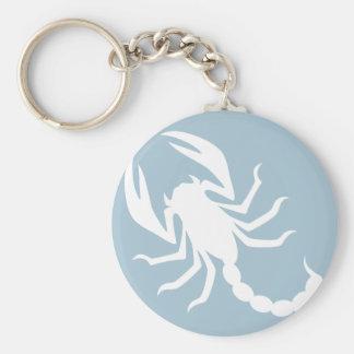 Creepy Scorpion Basic Round Button Key Ring