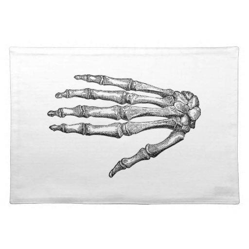 Creepy Skeleton Hand Place Mat