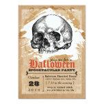 Creepy Skull Halloween Party Invitations