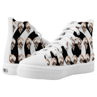 CREEPY SKULL HIGH TOPS