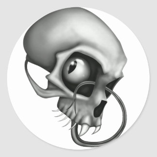 Creepy Skull Stickers