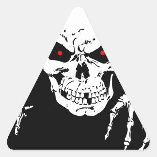 Creepy Skull Triangle Sticker