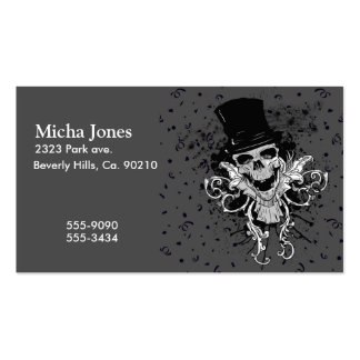 Creepy Skull With Top Hat Business Card Templates