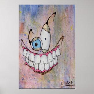 Creepy smile poster