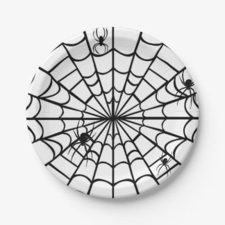 Creepy Spider Web Paper Plate