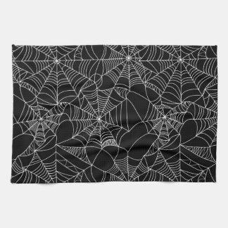 Creepy Spider Webs Tea Towel