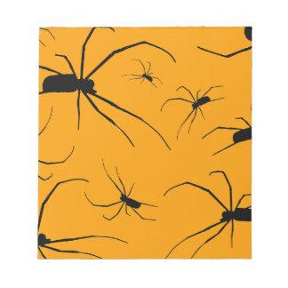 Creepy Spiders Notepad