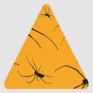 Creepy Spiders Triangle Sticker