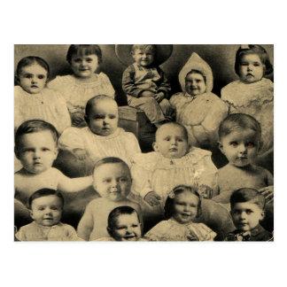 Creepy Victorian Evil Children Portrait Vintage Post Cards