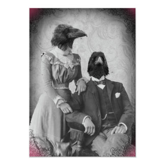 Creepy Victorian Raven Family Halloween Party 13 Cm X 18 Cm Invitation Card
