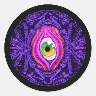 Creepy Vintage Eye Design Sticker