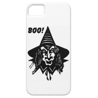 Creepy Witch Saying Boo iPhone 5 Case