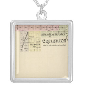 Creighton and West Niobrara, Nebraska Silver Plated Necklace