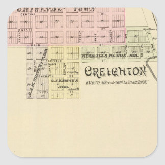 Creighton and West Niobrara, Nebraska Square Sticker