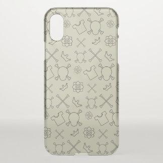 Creme brulee Skull and Bones pattern iPhone X Case