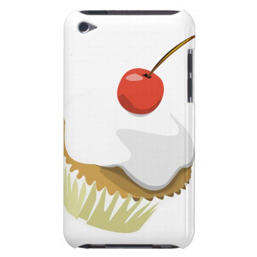 Creme cupcake with cherry ipod touch case