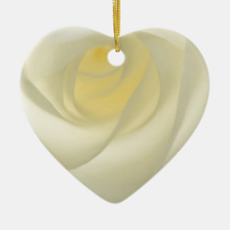 Creme Rose Eye Christmas Ornament