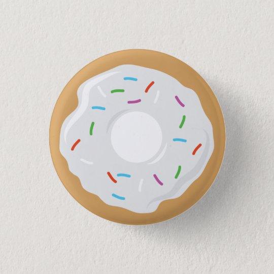 Creme White Doughnut  Pin