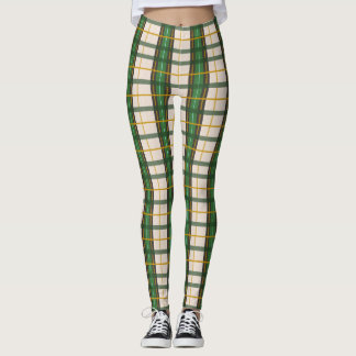 Creme'N Green Plaid Leggings