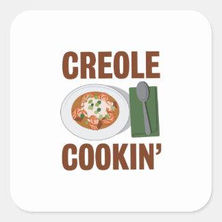 Creole Cookin Square Sticker