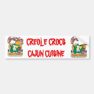 CREOLE-CROC BUMPER STICKER