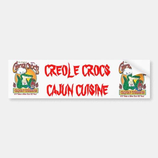 Creole croc bumper sticker for Cuisine a crocs