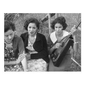 Creole Girls in Louisiana, 1930s Postcard