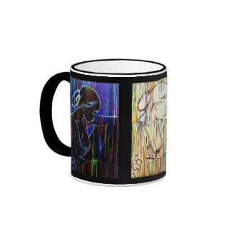 Creole Rain - drapeau tricolore Ringer Mug